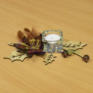 Vyšívaná vánoční hvězda s čajovou svíčkou