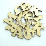 Dřevěná písmenka a čísla