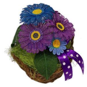 Květinový košík Gerbera a Kopretina