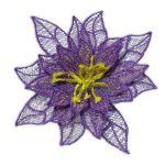 vyšívaný květ vánoční hvězda
